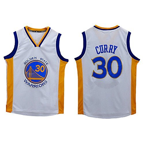 No.30 Curry Jersey Basketball Jersey Sports Embroidery Men's Jersey White M