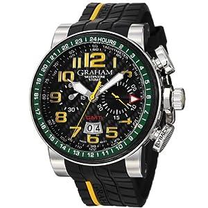 Graham Men's 2BLCH.B33A Silverstone Analog Display Swiss Automatic Black Watch