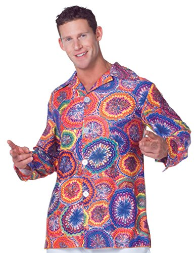 Underwraps Men's Plus-Size 70's Psychedelic Shirt, Multi, XX-Large