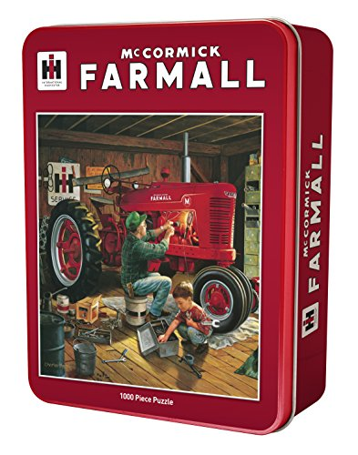 MasterPieces Farmall Forever Red 1000 Piece Tin Box Jigsaw Puzzle by Charles Freitag ()