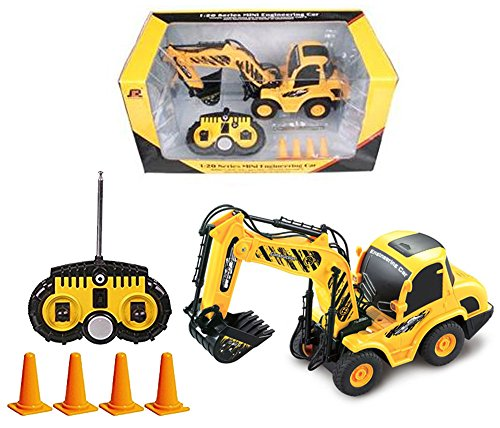 Full Function RC Excavator 1:20 Electric RTR Mini Remote Control Digger Construction Vehicle for (Cat Backhoe Tractor)