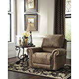 Signature Design by Ashley Larkinhurst Rocker Recliner in Earth Faux Leather For Sale