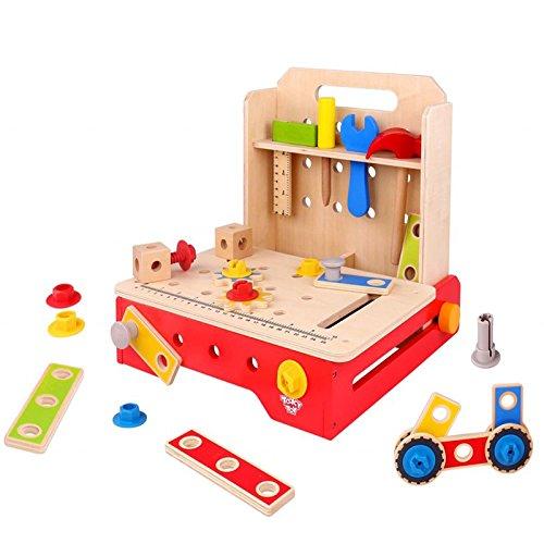 Tookyおもちゃ木製折りたたみ式ワークベンチ   B07BB4NDTS