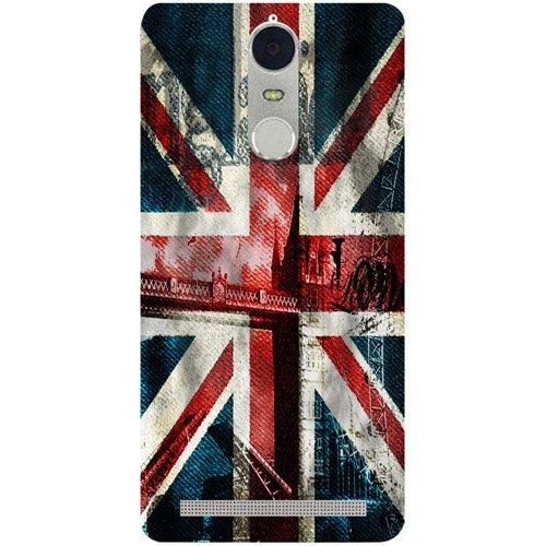 casotec london flag wallpaper design 3d hard Back Cover case for lenovo k5 note