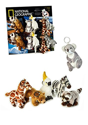 National Geographic 6 Piece Wild Animals Set 2 with Keychain (4