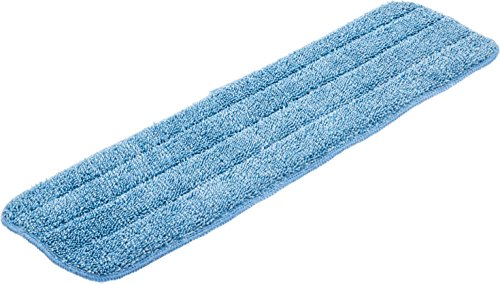 Carlisle 363321814 Commercial Microfiber Reusable Wet Or Dry Mop Pad, 18'', Blue (Pack of 12) by Carlisle (Image #3)