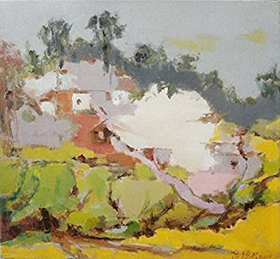 Cottage_2 By Original Artist - Chen DeJun. Museum Quality Oil Painting. (Unframed and Unstretched).