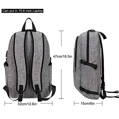 YIDUGO Backpack,Travel Bag Women Men,Anti Water College School Backpack Fits up Laptop Notebook,Grey