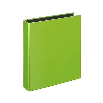 Velocolor 1153.300 - Archivador (tamaño A5, 4 anillas, 44mm), color verde kiwi