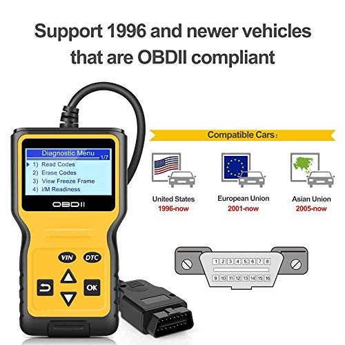 Panlong OBDII OBD2 Scanner Check Engine Light (MIL) Car Diagnostic Code Reader Scan Tool by Panlong (Image #4)