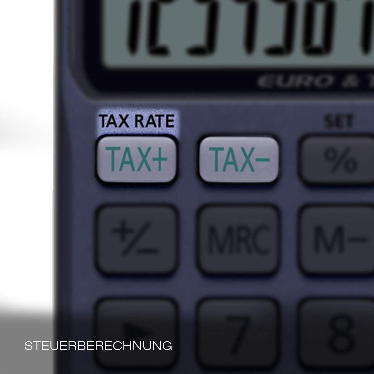CASIO SL-320TER Steuerberechnung W/ährungsumrechnung Taschenrechner 12-stellig Solar//Batterie