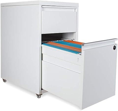 FPigSHS Archivadores de fichas Gabinetes para Archivos Caja de Archivos para Almacenamiento de Datos para Carpetas Cajón de Oficina Gabinete para archivadores Ruedas móviles con Cerradura: Amazon.es: Hogar