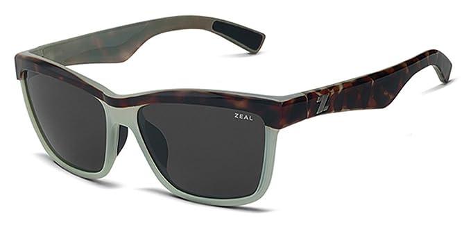 383dc86426 Zeal Optics Kennedy Polarized Sunglasses - Seafoam Tortoise Frame with Dark  Grey Lens