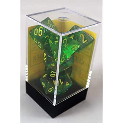 Chessex Dice Borealis: 7Pc Maple Green/Yellow: Toys & Games