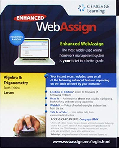bundle trigonometry 10th webassign printed access card for larsons trigonometry 10th edition single term.html