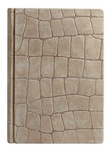 Eccolo Italian Firenze Journal, Genuine Leather, 6 x 8 Inches, Suede Crocco (E409) by Eccolo