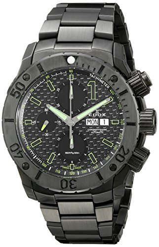 Edox Men's 01115 37N NV Chronoffshore Analog Display Swiss Automatic Black Watch, Model: 01115 37N NV, Hand/Wrist Watch Store