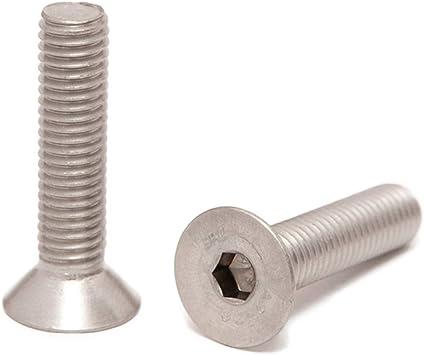 rostfrei - DIN 7991 10 St/ück Vollgewinde Gewindeschrauben ISO 10642 Senkkopf Schrauben Eisenwaren2000 Edelstahl A2 V2A M10 x 40 mm Senkkopfschrauben mit Innensechskant
