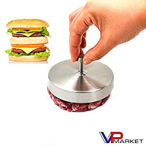 Stainless Steel Hamburger Burger Press Patty Maker Mold Ideal for BBQ Grill Non Sticking Coating Kitchen Cooking Tool