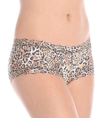 Hanky Panky Women's Leopard Nouveau Boyshort Brown Boy Shorts -