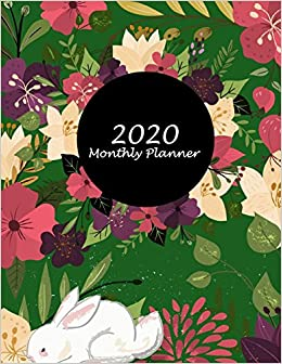 Lfl Schedule 2020 2020 Monthly Planner: Floral Premium Green Cover, Monthly Calendar