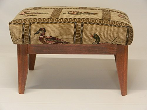 Yorkshire Footstool with Solid Wood Frame and Tapered Legs Available (Wood Frame Footstool)