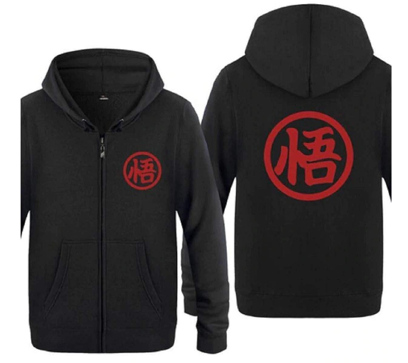 Men Women Girls Boys Tresbon Products Dragon Ball Z Anime Goku Vegeta Hoodie XLarge, Black and Red
