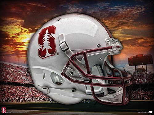 Stanford Cardinal Head Gear 24x18 Football Poster Authentic Team Spirit Store Product