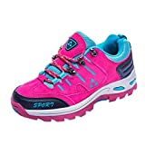 Aurorax-shoes Mens Womens Shoes for Outdoor Running Hiking Mountaineering,Casual Lace-up Comfortable Wedge Sneakers 6-10.5 (Hot Pink(Women), US:8)