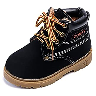 IOO Kids Classic Easy On Waterproof Winter Snow Work Boots for Girls and Boys (Toddler/Little Kid)