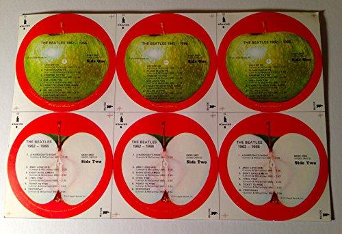 (Mint Original The Beatles USA Apple labels for