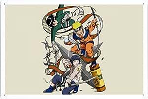 Tin Sign Metal Plate Poster of Naruto Hyuuga Hinata And Naruto Uzumaki 20*30cm by PBN