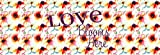 Floral Watercolor ''Love Blooms Here'' Bed Runner Scarf Twin/Full/Queen/King Size