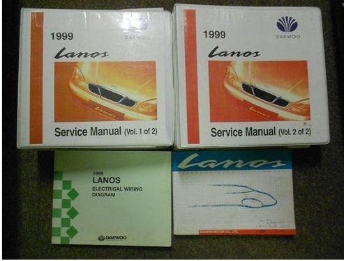 1999 DAEWOO LANOS Service Repair Shop Manual SET FACTORY OEM BOOK 99 BINDER EDI