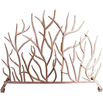 Amazon Com White Branches Iron Firescreen Open Tree