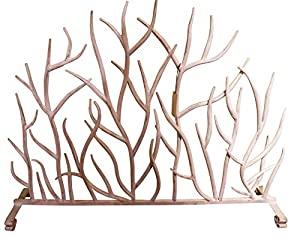 metal fireplace screens. White Branches Iron Firescreen  Open Tree Metal Fireplace Screen Amazon com