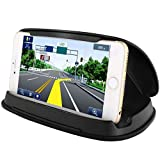 #1: Cell Phone Holder for Car, Car Phone Mounts for iPhone 7 Plus, Dashboard GPS Holder Mounting in Vehicle for Samsung Galaxy S8, and other 3-6.8 Inch Universal Smartphones and GPS - Black