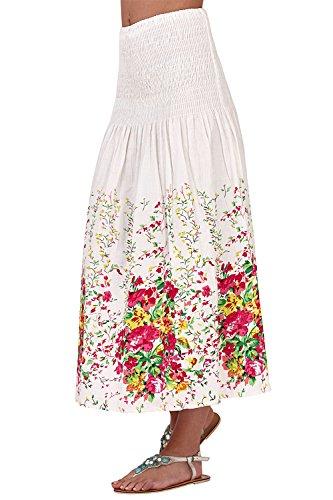 pistachio Damen Sommer Blumendruck 3 in 1 Midi Nackenträger Kleid Rose V0BCFDQW