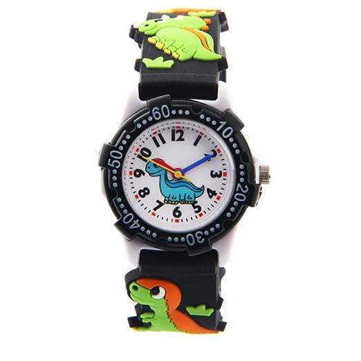 Reloj para Niños y Niñas Reloj de Cuarzo con Dibujos Animados Bonitos en 3D Resistente al Agua, Regalo para Chicos Niños y Niñas: Amazon.es: Relojes