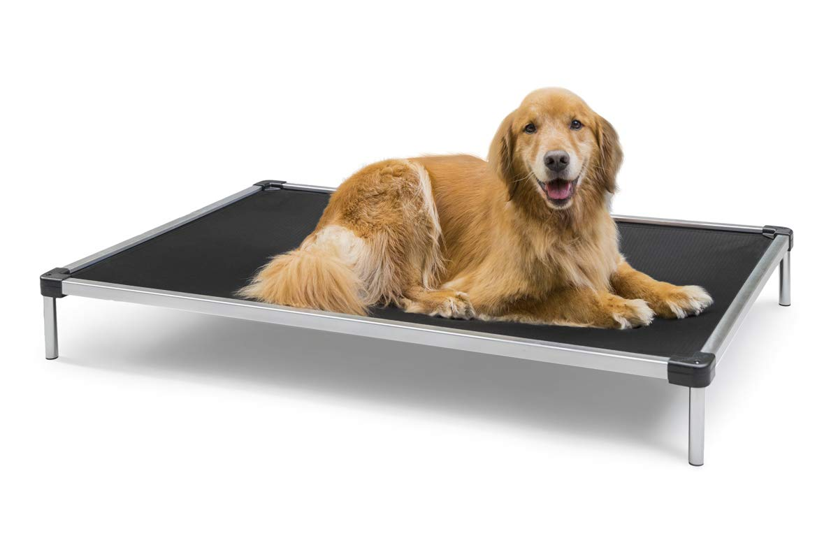 K9 Ballistics Chew Proof Elevated Dog Bed - Chewproof - All Aluminum - Indoor/Outdoor - Ripstop Ballistic Fabric - Ships Assembled - Fits Inside Crates 27''x44''