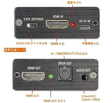 14700c3fd115 Amazon.co.jp: RuzLog hdmi 音声分離 4k x 2k 高速 HDMI分離抽出音声 hdmiデジタルオーディオ分離器  光デジタル/アナログステレオRCA出力 HDMIサウンド分離器 hdmi ...