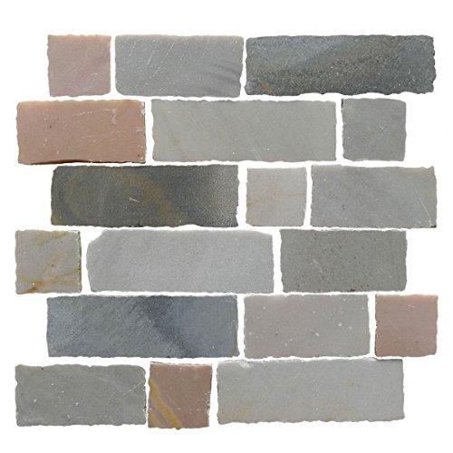 desia Slate Mosaic Tile Bathroom Kitchen Wall Backsplash, 10 Sheet (Ardesia Tile)