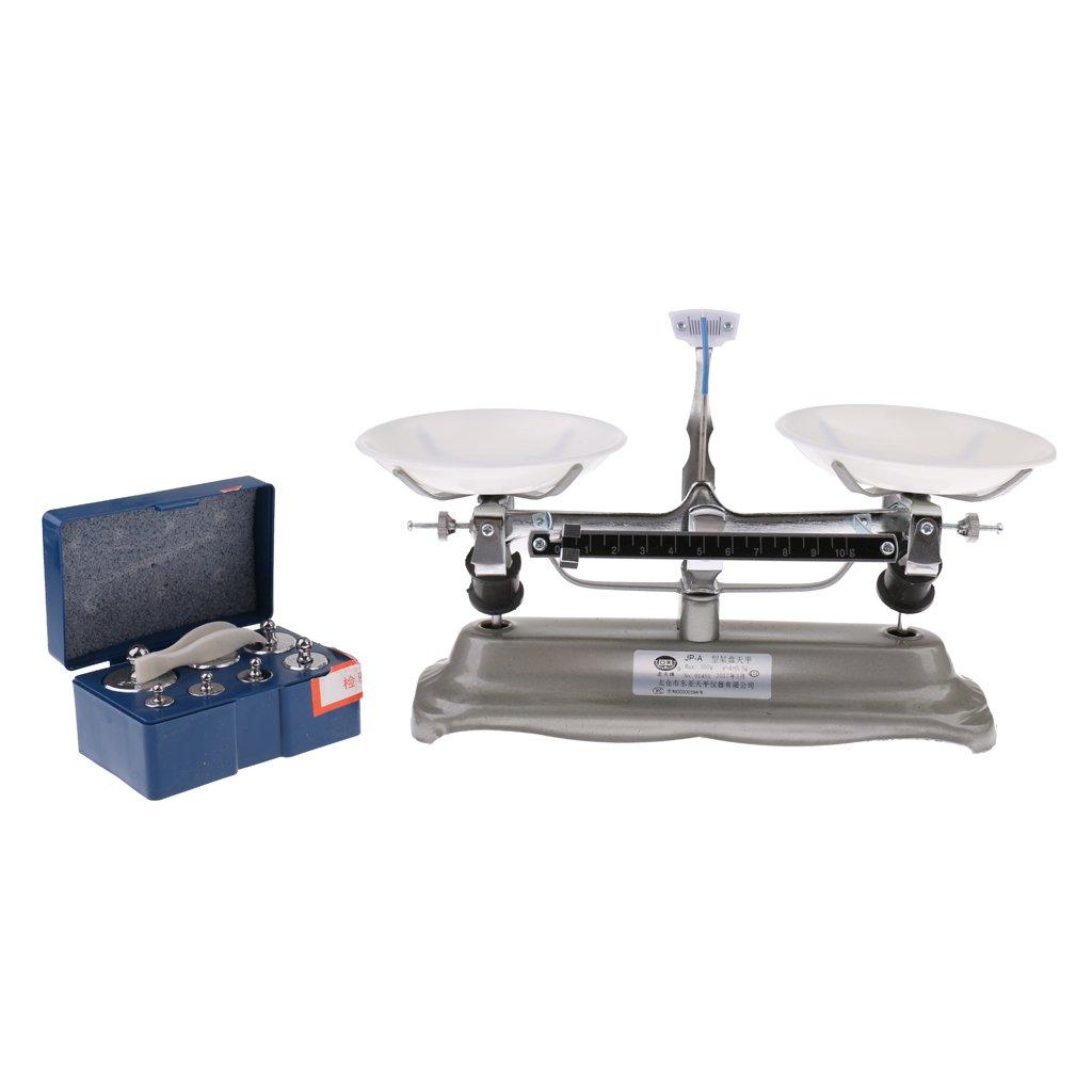 Sharplace Balance é quilibre de Table Avec Poids en Mé tal Plastique Accessoires Pour Laboratoire Physique - Comme les images ont montré , 100 grammes e3b0680e4d741c3c1637d08231cf76f3