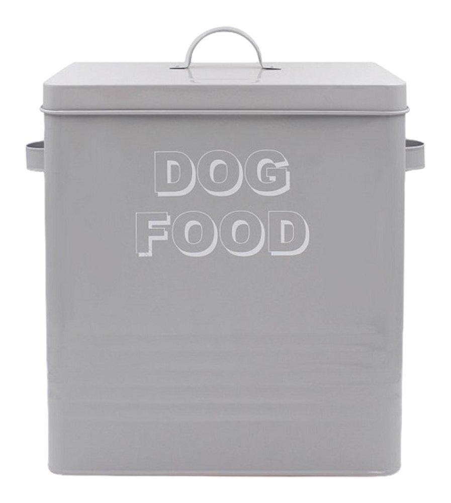 Lesser & Pavey New Sweet Home - Caja de comida para perro, metal, color gris, 34 x 21 x 33 cm LP42661