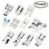 zipper foot singer - Zilong 11 PCS Domestic Sewing Machine Snap-On Presser Foot Set For Singer, Brother, Janome, Kenmore, Babylock, Pfaff, Simplicity And Low Shank Sewing Machines