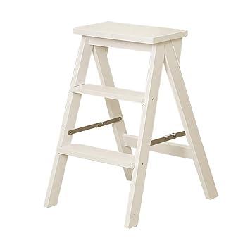 Amazoncom Step Stools Solid Wood Folding 3 Step Ladder Household