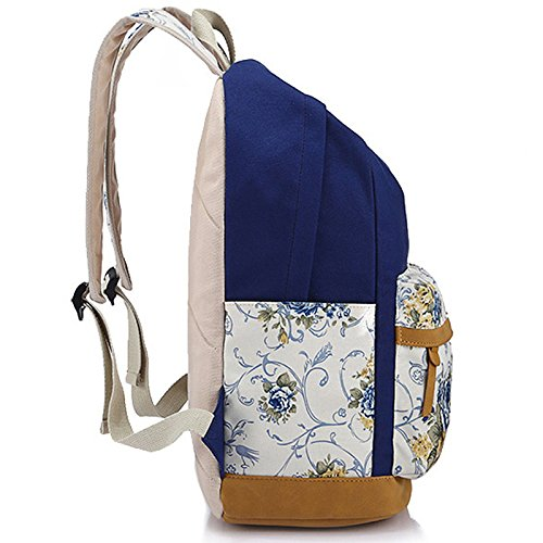 Toile Winnerbag Femmes Floral sacs Bagpack haute Impression sac FqnUfxRqHw