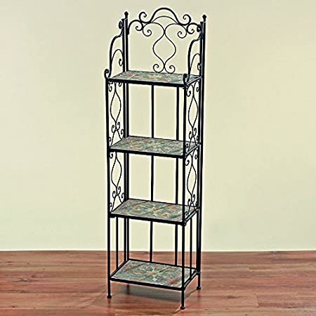 Timeless Beautiful 4er Regal Malta 140 Cm High Mosaic Shelf Bookshelf Cabinet