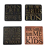 This unique gift is made of crushed stone/resin and hand finished. Set includes stones, easels and gift card. High-end coasters, will last a lifetime of memories.