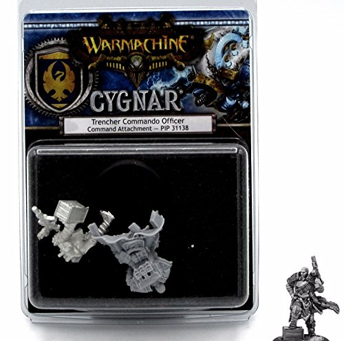 Privateer Press Trencher Commando Officer: Cygnar Command Attachment (Resin/Metal) Miniature Game Model
